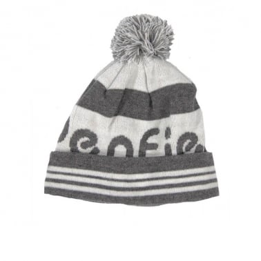 Sanford Beanie - Grey/White