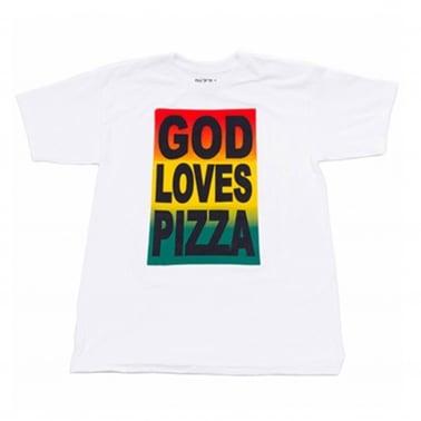 God Loves Pizza T-Shirt - White