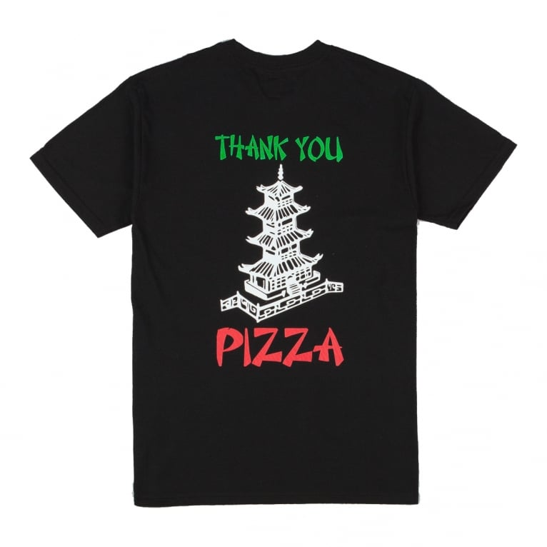 Pizza Skateboards Thank You Tee - Black