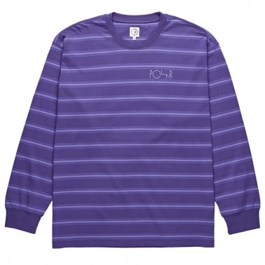 '91 Long Sleeve T-Shirt - Violet Stripe