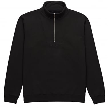Heavyweight Half Zip Neck Sweatshirt