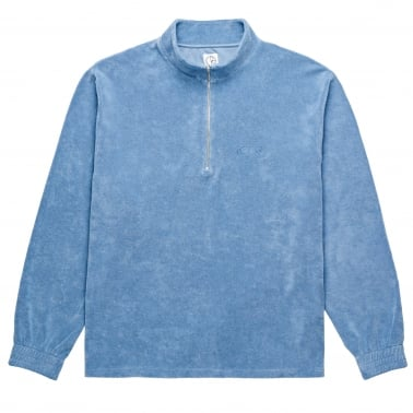 Terry Half Zip - Dusty Indigo