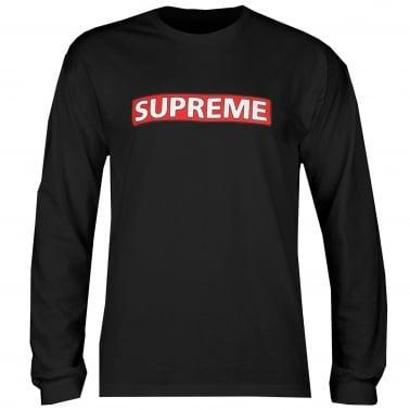 Supreme Long Sleeve T-Shirt - Black