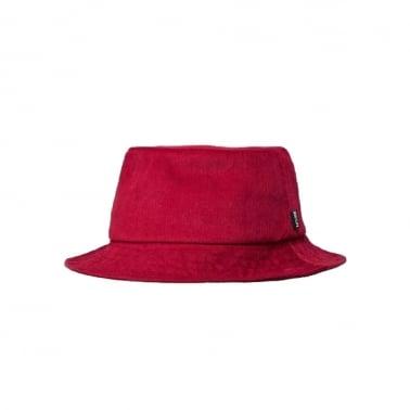 Cord Bucket Hat Maroon