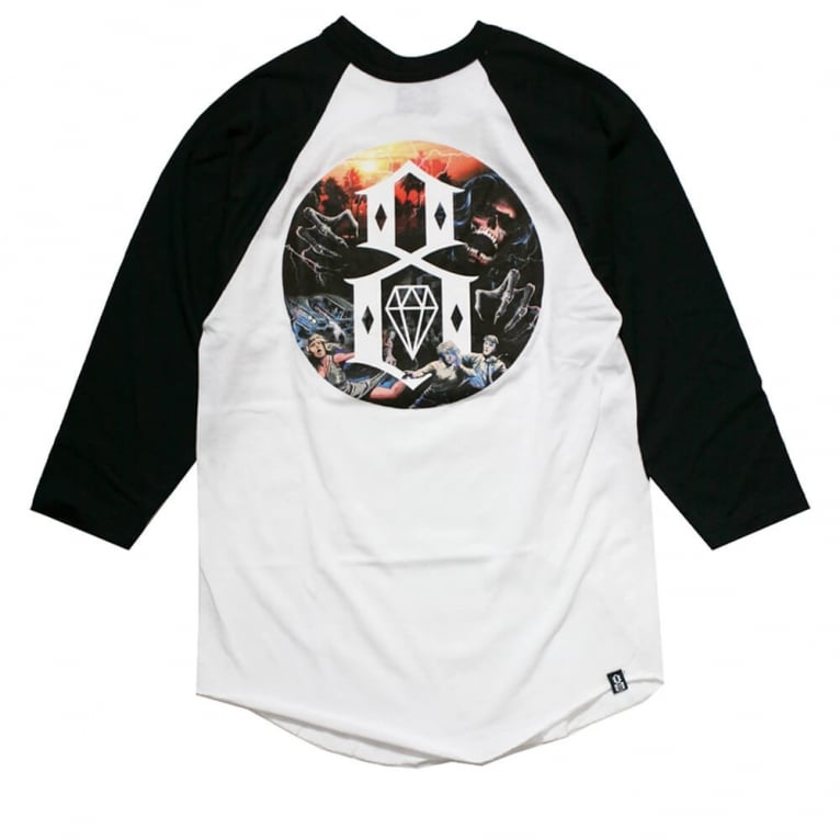 Rebel 8 Apocalypse Raglan T-shirt - White/Black