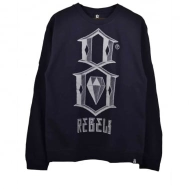 Bevel Logo Crewneck Sweatshirt - Navy