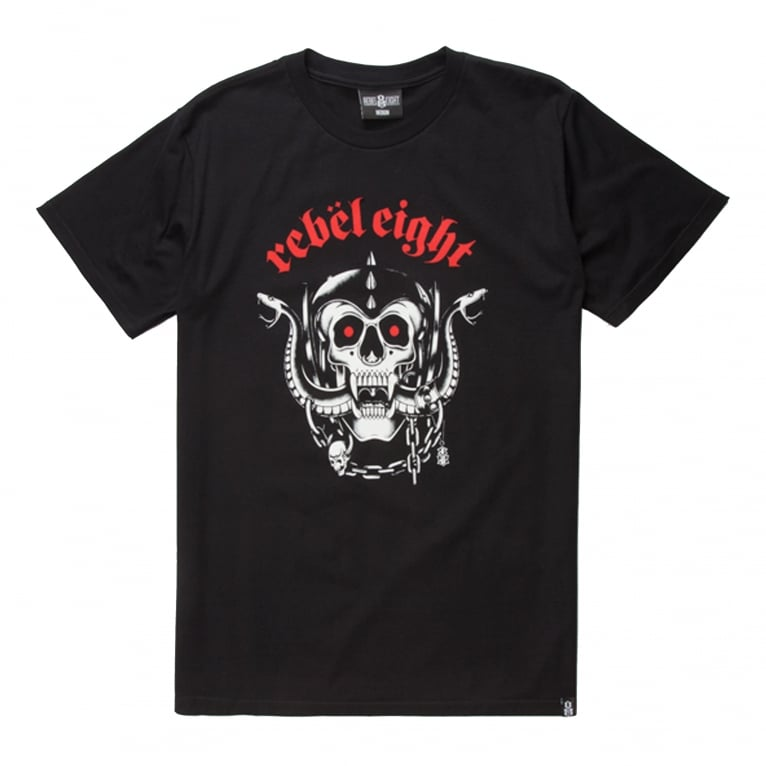 Rebel 8 Born To Die Soft - T-Shirt - Black
