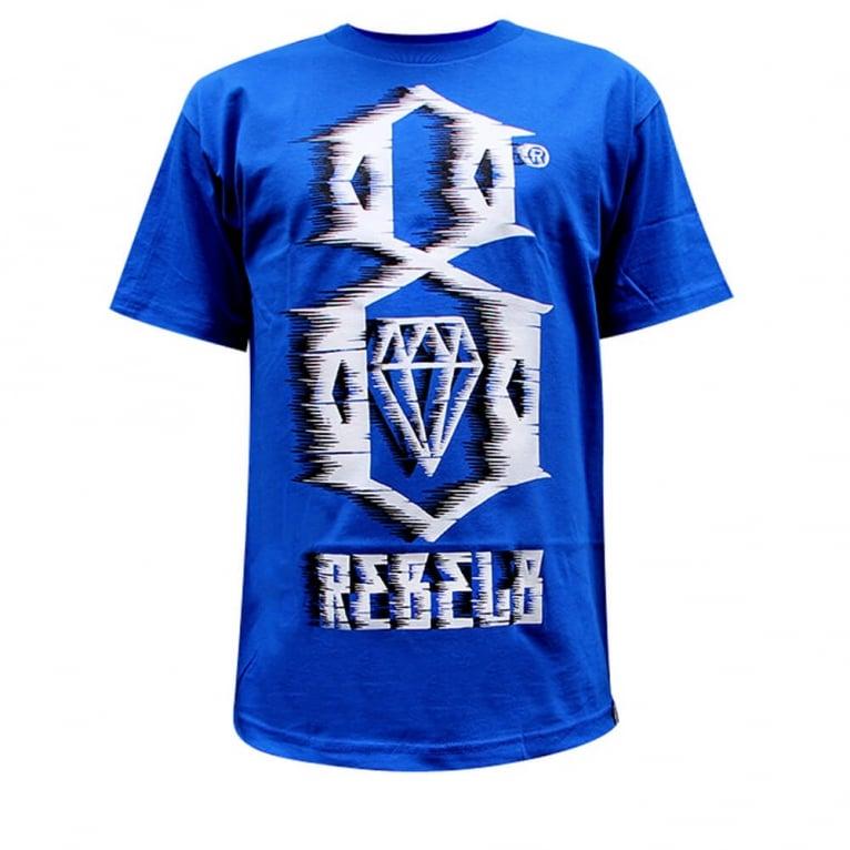 Rebel 8 88mph T-shirt - Royal Blue