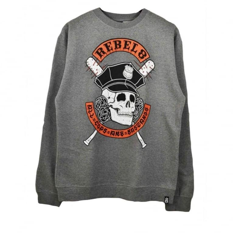 Rebel 8 A.C.A.B Crewneck Sweatshirt - Gunmetal