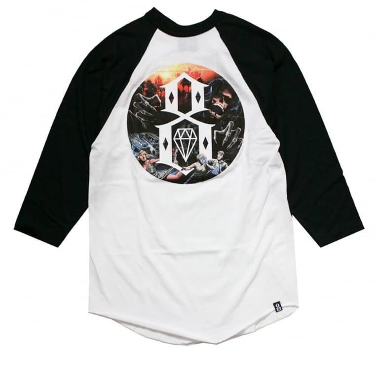 Rebel 8 Apocalypse Raglan T-shirt - White/Black