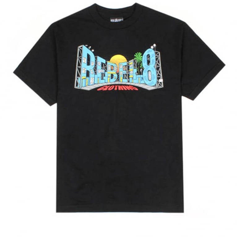 Rebel 8 Backlot T-shirt - Black