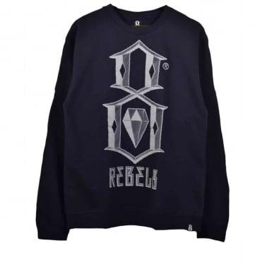 Bevel Logo Crewneck Sweatshirt - Navy