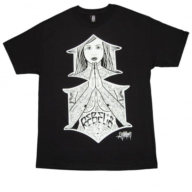 Rebel 8 Blessed T-shirt - Black