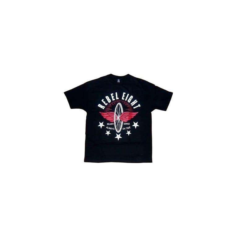Rebel 8 Courier T-shirt - Black