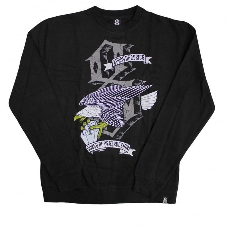 Rebel 8 Dukes Crewneck Sweatshirt - Black