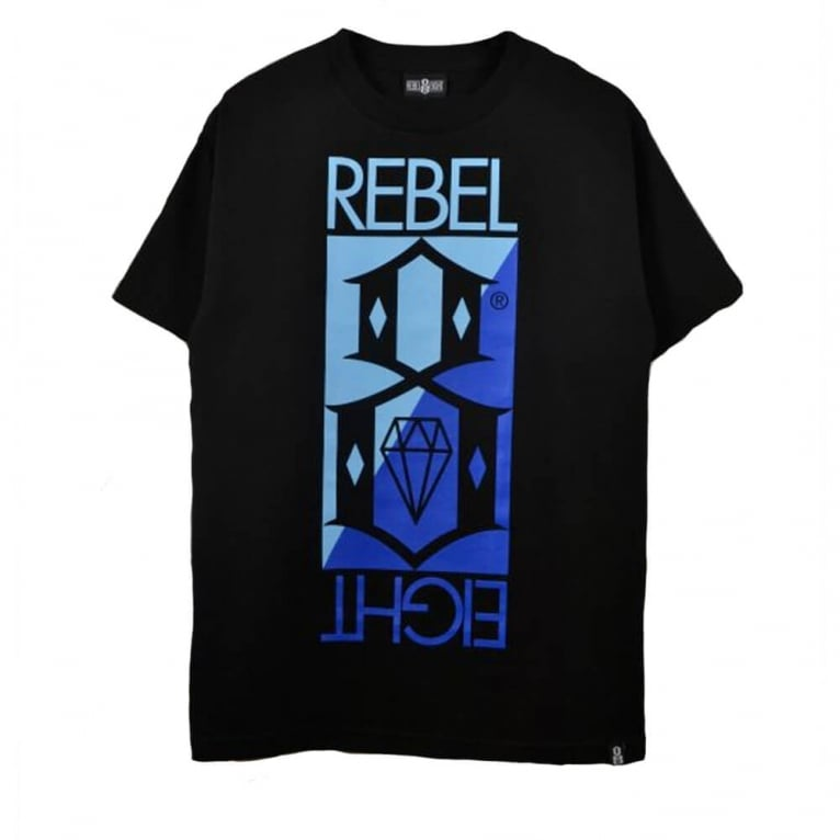 Rebel 8 Flip T-shirt - Black