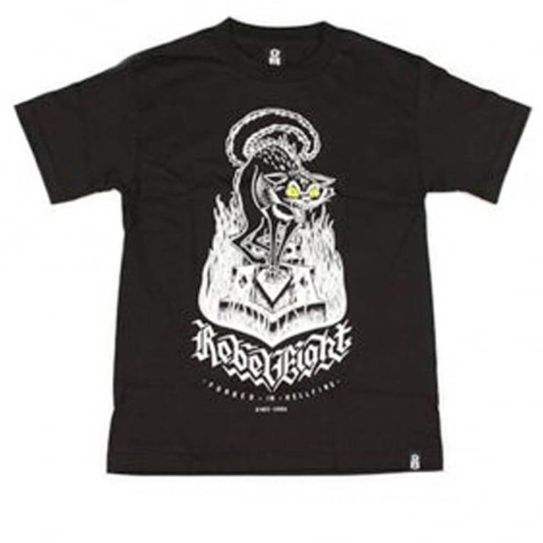 Rebel 8 Hell Cat T-shirt - Black
