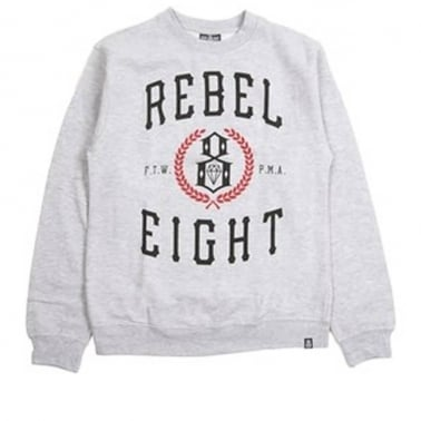 Laurels Crewneck Sweatshirt - Grey Heather