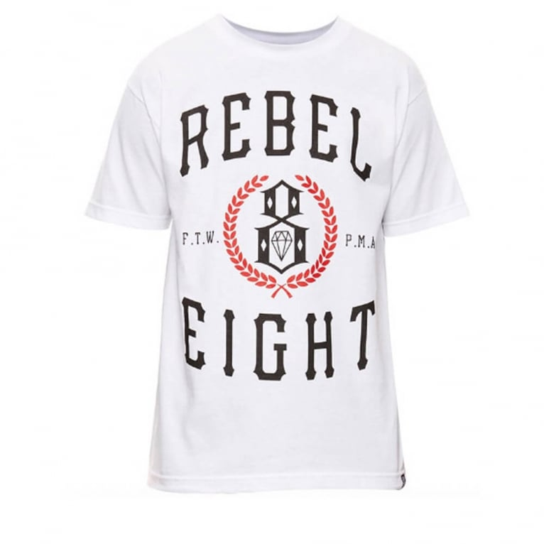 Rebel 8 Laurels T-shirt - White