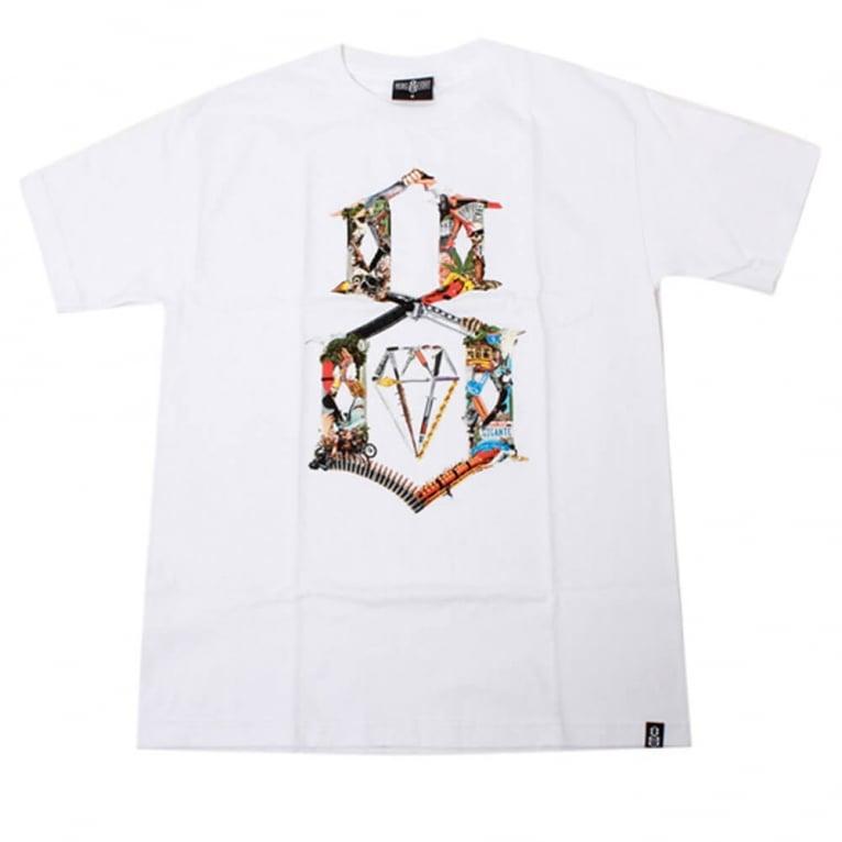 Rebel 8 Logo Kollage T-shirt - White