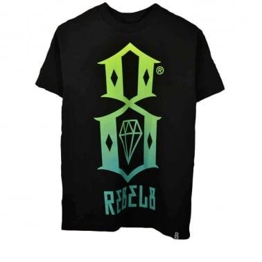 R8 Logo T-shirt - Black/Green
