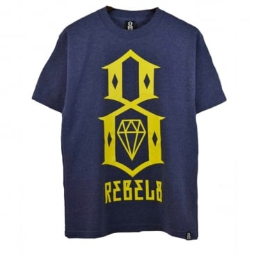 R8 Logo T-shirt - Denim Heather