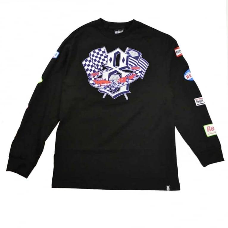 Rebel 8 Speedway Long Sleeve T-shirt - Black