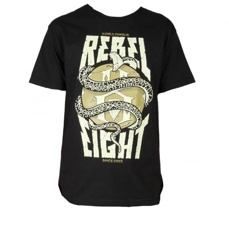 Rebel 8 World Famous T-shirt - Black