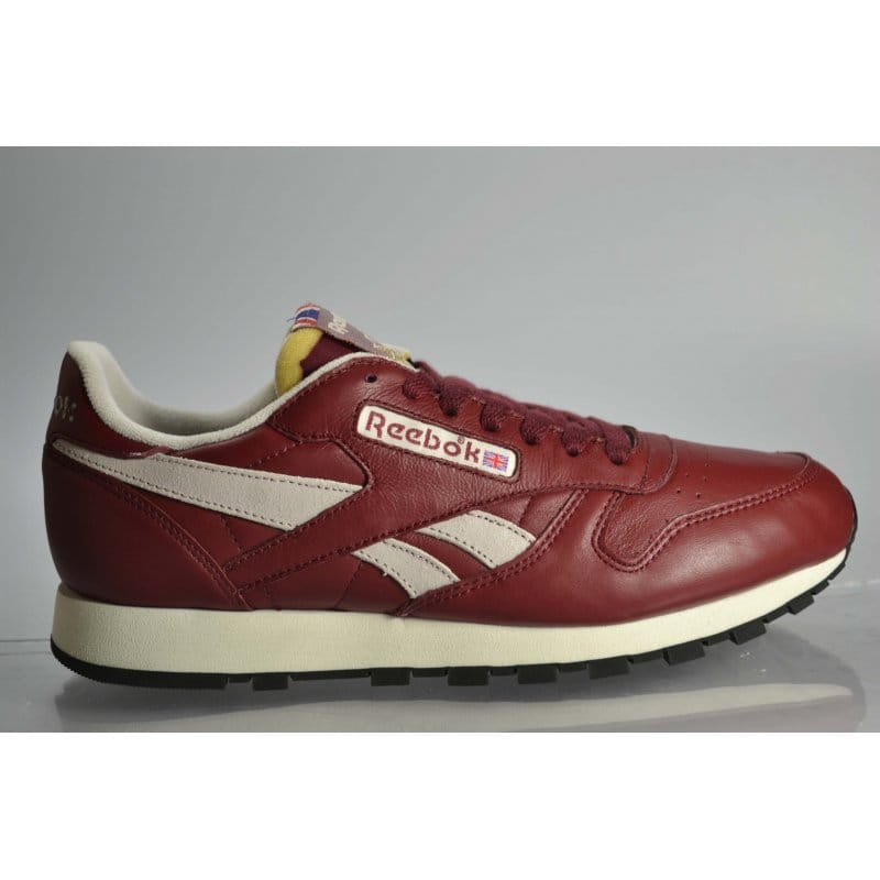 new arrival no sale tax factory price Reebok Classic Leather Vintage - Burgundy/White