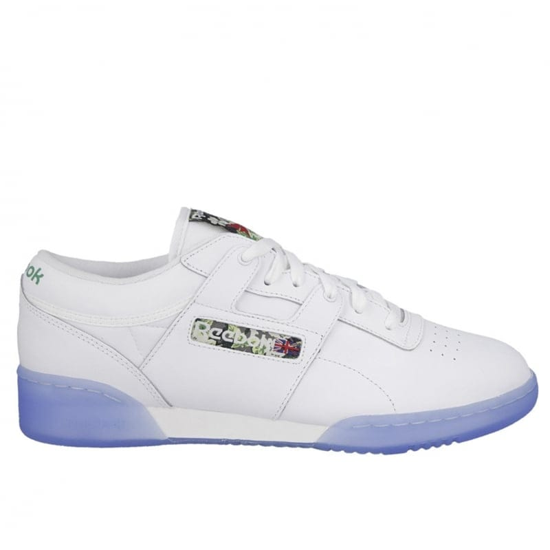 647bbceca0bff8 White Ice Reebok Workout Low Clean