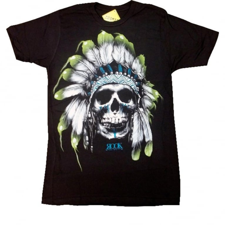 Rook Chief Skull T-shirt - Black