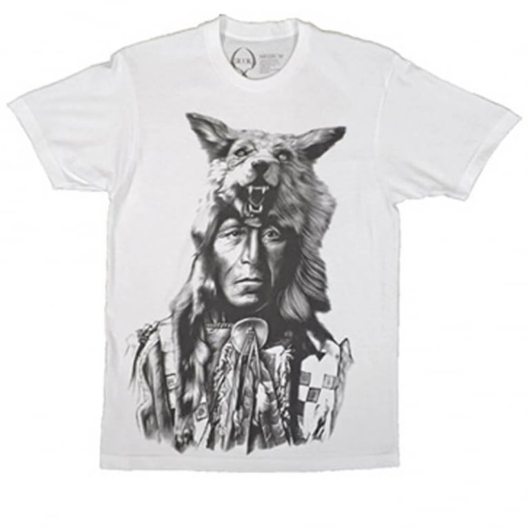 Rook Running Wolf T-shirt - White