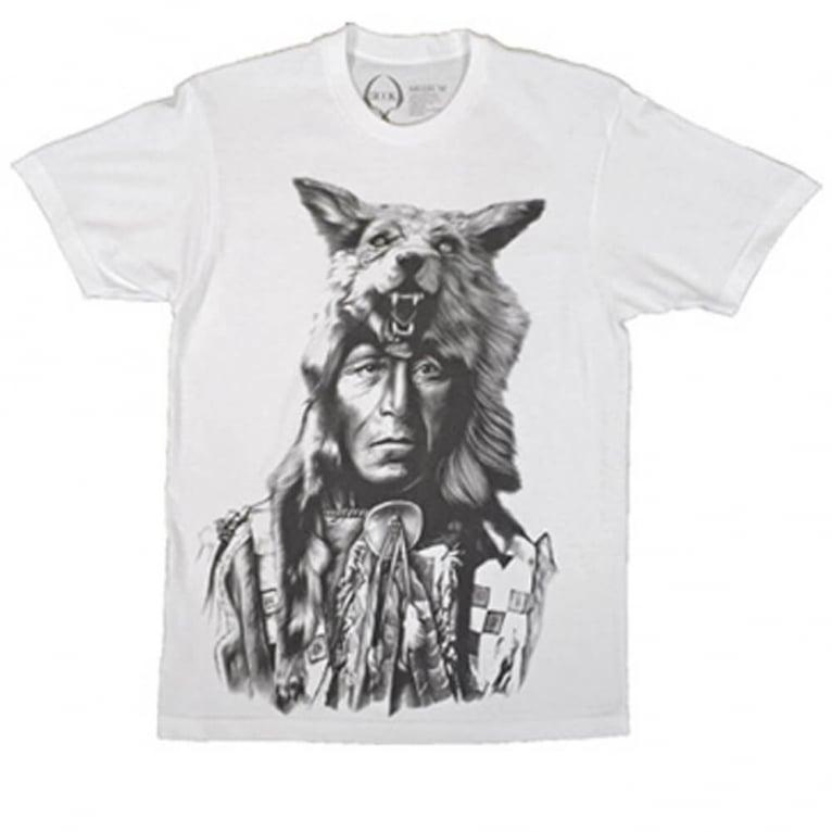 Rook Running Wolf T-shirt - White