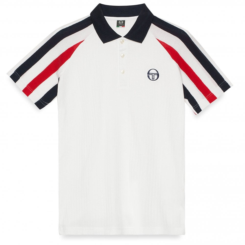 93e86846d819 Blow Polo Shirt - White Red
