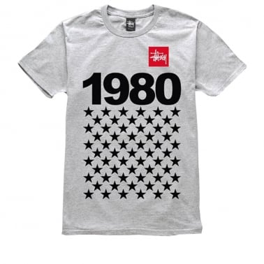 1980 Stars T-shirt - Grey Heather