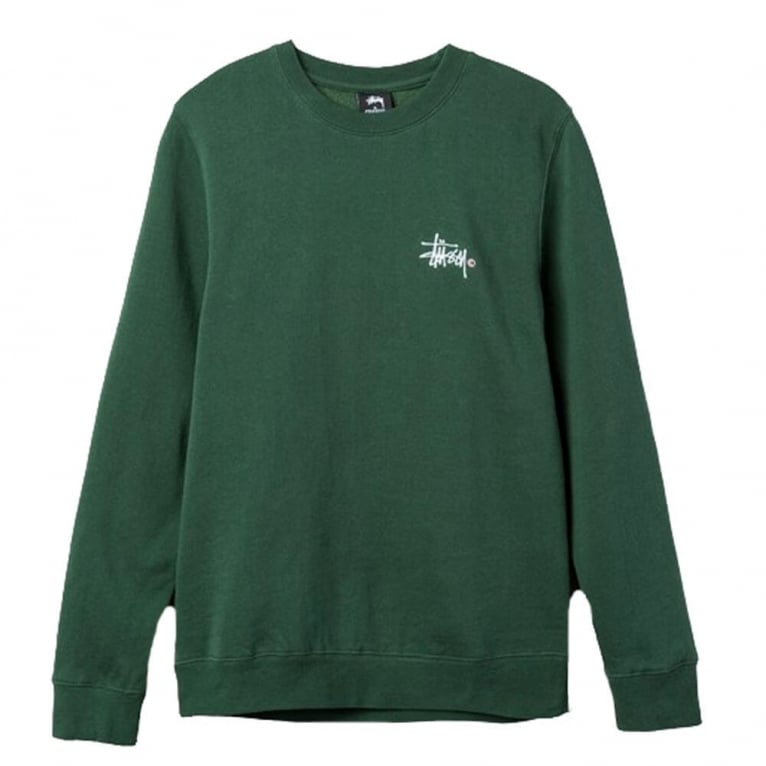 Stussy Basic Logo Applique Crew Neck Sweatshirt