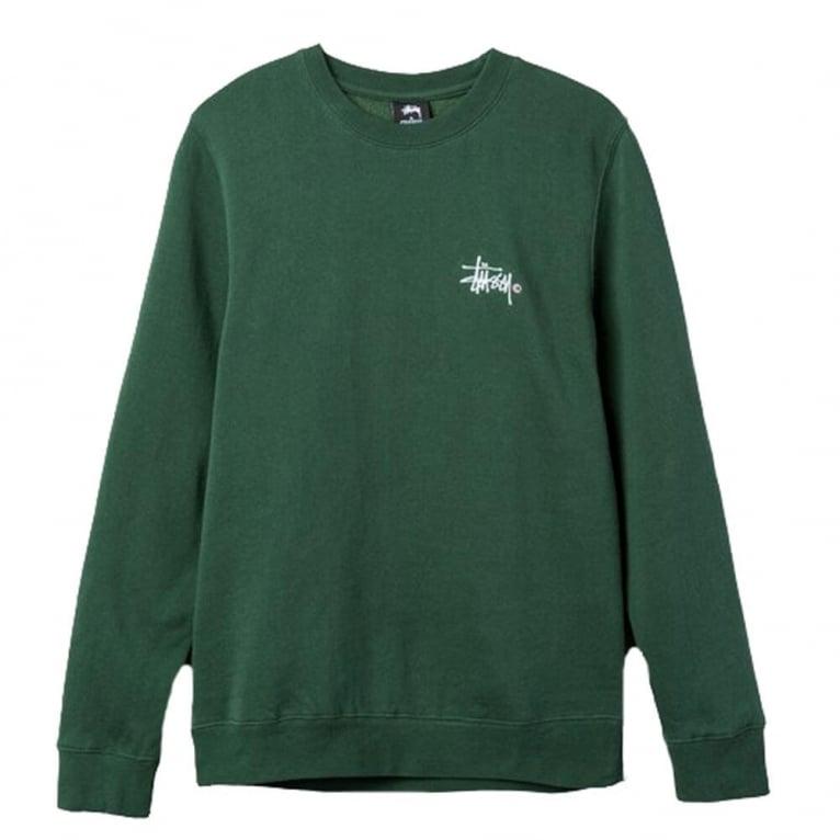 Stussy Basic Logo Applique Crew Neck Sweatshirt