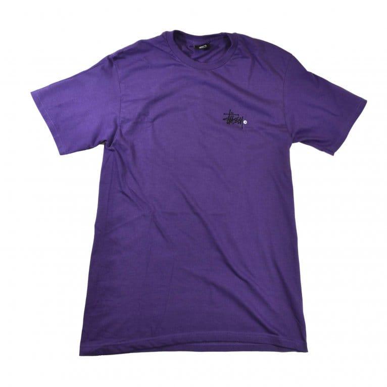 Stussy Basic Logo Tee - Purple