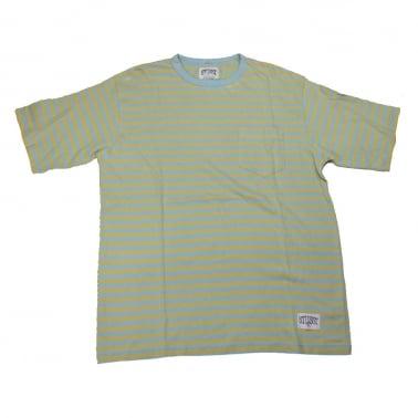 Bee Crewneck T-Shirt - Light Blue/Gold