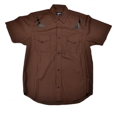 Birdie Short Sleeve Shirt - Brown