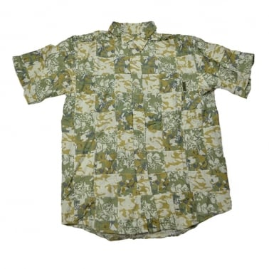 Camo Patch Short Sleeve Shirt - Green