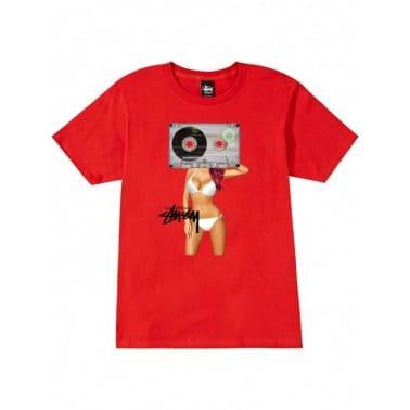 Cassette Girl Tee Red