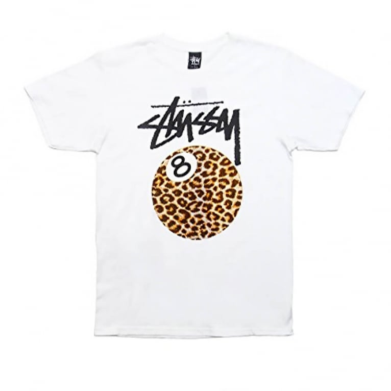 Stussy Cheetah 8 Ball T-shirt - White