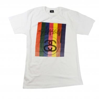 Color Squares Tee - White