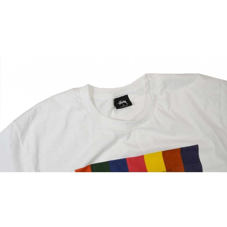 Stussy Color Squares Tee - White