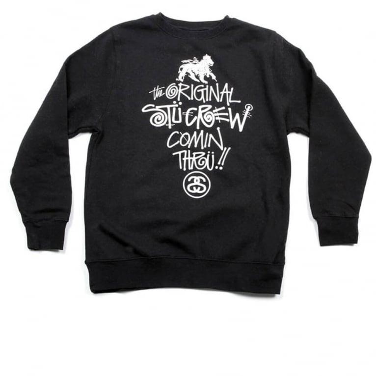 Stussy Comin Thru Crewneck Sweatshirt - Black