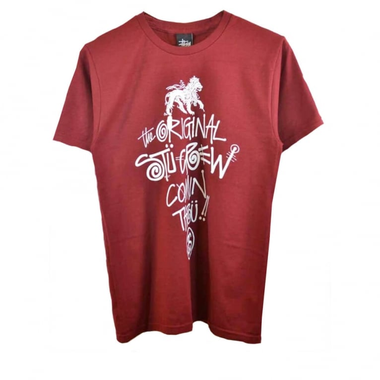 Stussy Comin' Thru T-shirt - Wine