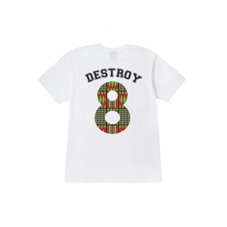 Stussy Destroy 8 Tee White