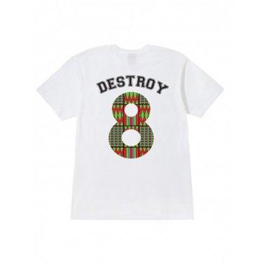 Destroy 8 Tee White