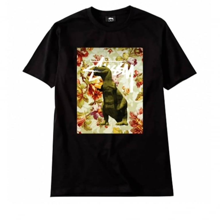 Stussy Flower Dino T-shirt - Black